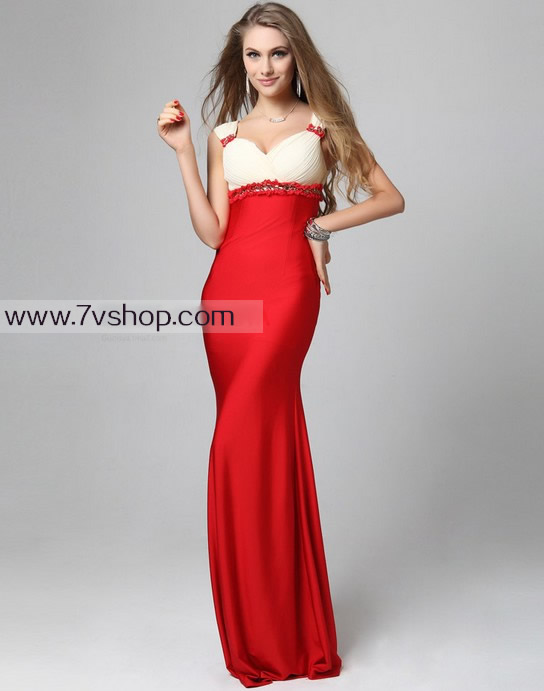 Deep V Slim Hip Package Dress Long Toast Clothing Prom