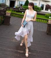 Sleeveless Dresses Dress-White