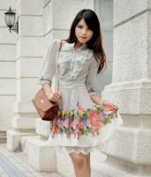 Lotus Leaf Collar Dress