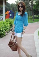 Fashion pearl Chiffon Sleeveless T-shirt