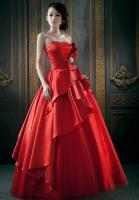 Red Wedding Dress Red Evening Dress Korean Bra Toast Clothing